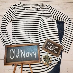 EUC + Old Navy Luxe + striped long sleeve